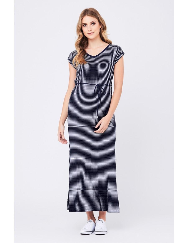 19aa63859e3 Ripe Meghan Striped Maxi Dress – Navy White – Maternal Instinct
